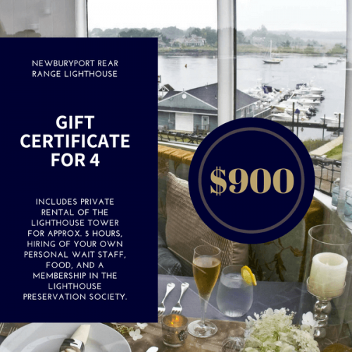 Lighthouse Dining Gift Certificate for 4