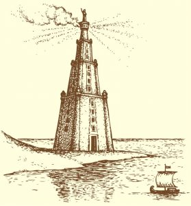 Pharos of Alexandria Lighthouse Rendition
