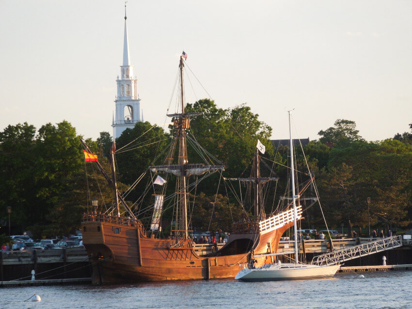15th century replica cargo vessel of Santa Maria in Newport