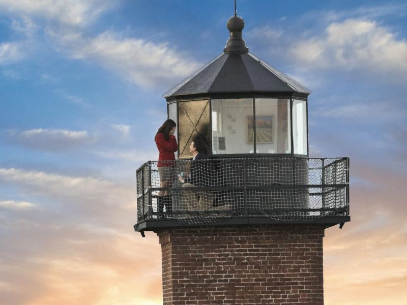 Couple at top of Newburyport Lighthouse