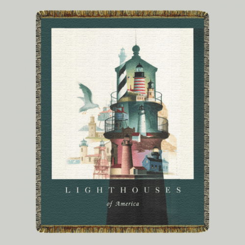 Lighthouses of America Blanket