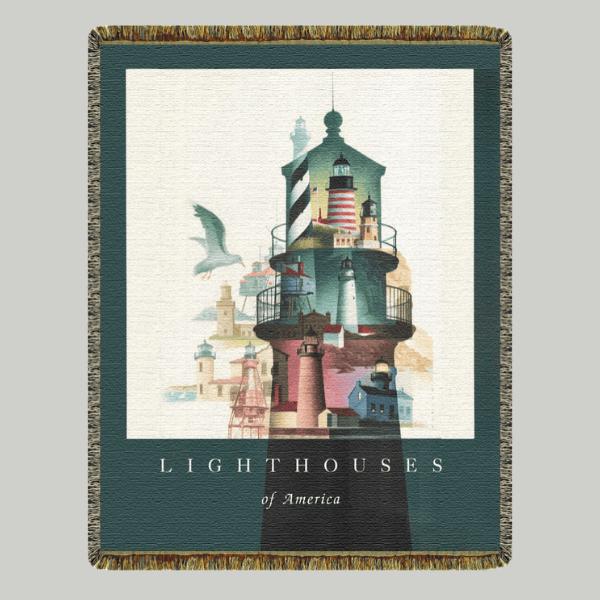 Lighthouses of America Blanket