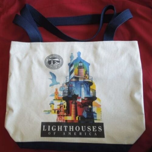 Tote bag with picture of lighthouse